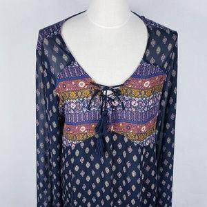 XHILARATION BOHO TUNIC DRESS XXL